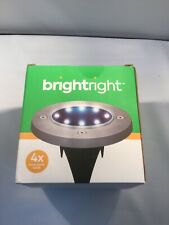 BRIGHTRIGHT - Outdoor Solar Disk Lights 4 Pack