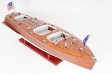 Handcrafted Wooden Chris Craft Triple Cockpit Medium Model Ship