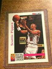 1992-93 NBA Hoops Basketball # 345 Scottie Pippen Tournament Of The America's