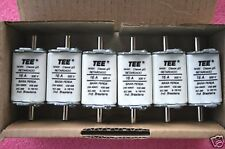 (6) TEE Industrial Fuse Links - 16 Amp 500 Volt Ceramic, High Speed, Blade Style