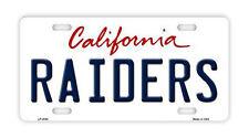 Metal Vanity License Plate Tag Cover - Los Angeles LA Raiders - Football Team