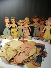 SUPER VINTAGE 1940S LITTLE GIRL PAPER DOLL SET WITH CLOTHES