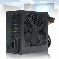 650W PSU ATX 12V Gaming PC Power Supply 24Pin / Molex / Sata 650 Walt 12CM   ✌