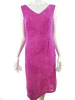 Cortefiel Women's Dress EU 42 UK 14 US 12 pink flowers floral viscose 100%