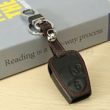 2 Button PU Leather Key Case Cover For Mercedes BENZ C S CLK SLK Remote Smart