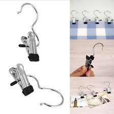 Practical Black Laundry Metal Hook Clothes Pin Boot Shoes Hanger Hold Clips 1Pcs