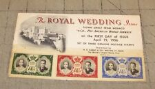 1956 THE ROYAL WEDDING ISSUE 1st Day Cover Card Grace Kelly Monaco Pan Am