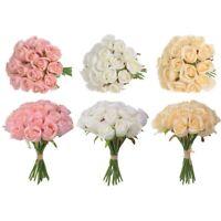 1 Bunch 18 Heads Artifical Silk Rose Flower Bouquet Wedding Party Home Cxz