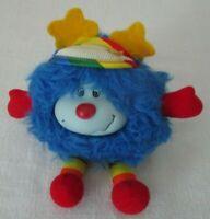"""Rare 1983 RAINBOW  BRITE 8"""" Blue Champ doll with hat ~Hallmark/Mattel"""