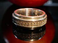 Starker 925 Silber Ring Schwer ESPRIT Struktur Unisex Damen Herren Vintage Retro