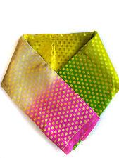 Rainbow Shibori Pure Silk Handwoven Banarasi Brocade Fabric