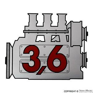 Rear Window Engine Decal, Porsche All Models, 911.701.102.00