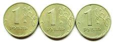 Russland Lot von 3 & 1 Rubel 1997,1998 MМД & 1999 СпМД
