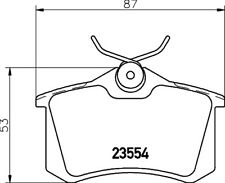 Mintex Rear Brake Pad Set MDB1377  - BRAND NEW - GENUINE - 5 YEAR WARRANTY