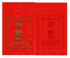 UNITED ASIAN BANK BERHAD Rare Vintage PLASTIC ANG POW RED PACKET x 2pcs