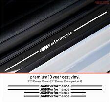 BMW Competition Door Sill Kit (4 Door) Premium10 Year Cast Vinyl Decals Stickers