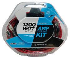 SCOSCHE 6 AWG 100% Copper (OFC) Wire Car Amplifier Install Kit KPA6SD 1200 Watts