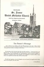 Montgomery Alabama St James United Methodist Church Aug 1980 Bulletin McGlamry