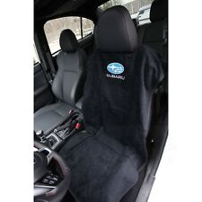 NEW Black Universal Seat Armour Subaru Logo Front Seat Cover Towel WRX STI