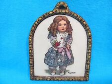 ARTINI SCULPTURED ENGRAVING HAND PAINTED WALL HANGING LITTLE GIRL 20120