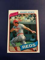 1980 Topps # 100 JOHNNY BENCH Cincinnati Reds Sharp LOOK !