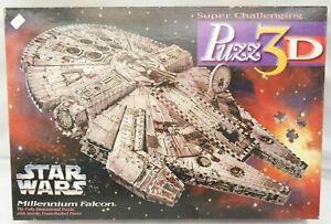 Star Wars Millennium Falcon Puzz 3D 857 Pc Puzzle Milton Bradley  TY