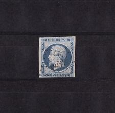 timbre France  Napoléon III  25c   bleu    de 1853    num: 15  oblitéré  superbe