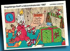 SCHÖNER ALTER ADVENTSKALENDER 1987 > KLEINE NIKOLÄUSE > GOLF WERBUNG > 1