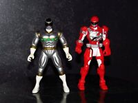 In space Silver & OverDrive Red Power Rangers Figure lot : (E-4)