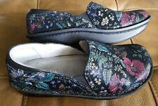 Alegria PG Lite Slip Resistant Black floral multi Nurse Shoes 39 EU CLEAN