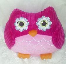 """Pink Plush Owl Pillow 8"""" Tall x 11"""" Wide x 4"""" Deep. Super Soft & Cuddly!"""