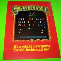 Gremlin Sega CARNIVAL 1980 Original NOS Video Arcade Game Flyer Mint Brochure