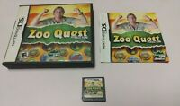 Zoo Quest: Puzzle Fun (Nintendo DS, 2009) COMPLETE NDS 2DS 3DS