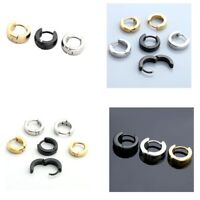 3Pairs Stainless Steel Hoop Ear Helix Ear Hoop Studs Earrings Huggies Piercing
