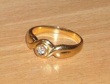 wunderschöner Brillantring 0,06 ct Gold 585 punziert ca 4,3 g Gr 18,5