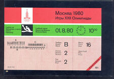 XXII Moscow-1980 Olympics Games CANOEING  Unused Ticket Moscow Basin
