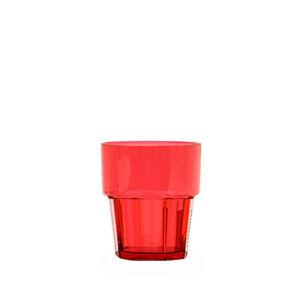 6x 240ml / 8 oz Diamond Rock Polycarbonate Glass Orange Tumbler