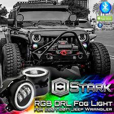 70W 7000LM LED RGB Million Color App Bluetooth Halo Fog Lights - Jeep Wrangler
