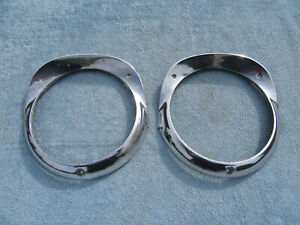 1956 Chevrolet Belair Headlight Trim Bezel Pair