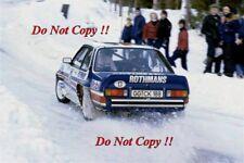 Walter Rohrl Opel Ascona 400 Swedish Rally 1982 Photograph 3