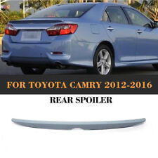 ABS Rear Trunk Spoiler Wing Tail Lip Unpainted Gray Fit for Toyota Camry 12-16