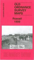 OLD ORDNANCE SURVEY MAP ROSSALL 1909 FLEETWOOD SALT WORKS BURN HALL CLEVELEYS