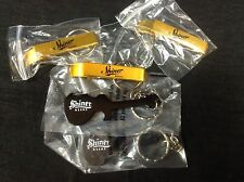 5 Shiner Bock Beer Bottle Openers Guitar Keychains Texas New!!!