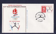 enveloppe 1er jour  Jeux Olympiques  ski artistique    73  Tignes     1991
