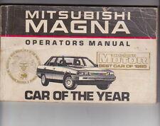 1986 MITSUBISHI TM MAGNA Australian Owners Manual
