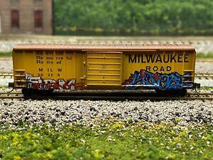 N Scale - MTL Milwaukee Road 50' Single Door Boxcar (Factory Weathered) N3836