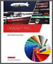 (7,62€/m²) Oracal 751C Plotterfolie 63x500cm Gegossen Folie Orafol 118 Farben