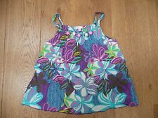MARKS & SPENCER AUTOGRAPH PURPLE STRAPPY SUN TOP CAMISOLE EMBELLISHED TOP 10 YR