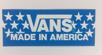 NOS Vintage Vans Logo Skateboard Sticker BMX Surf Original 1990's 80's America