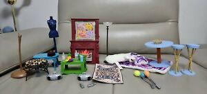 Barbie My Scene Furniture Bundle, Fireplace , table